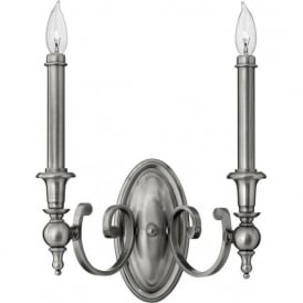 YORKTOWN antique nickel twin wall light