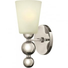 ZELDA Art Deco nickel wall light