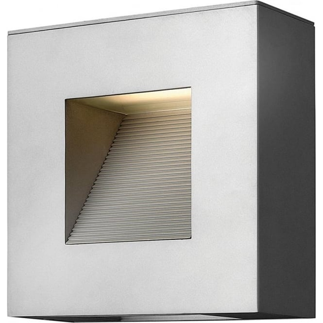 Modern Square Led Exterior Wall Light In Aluminium With Silver Finish