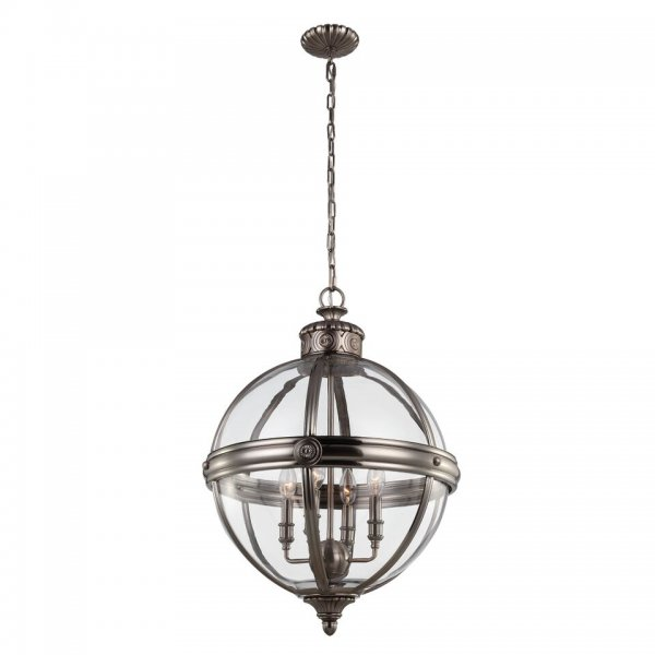 Traditional Victorian Style Glass Globe Pendant With