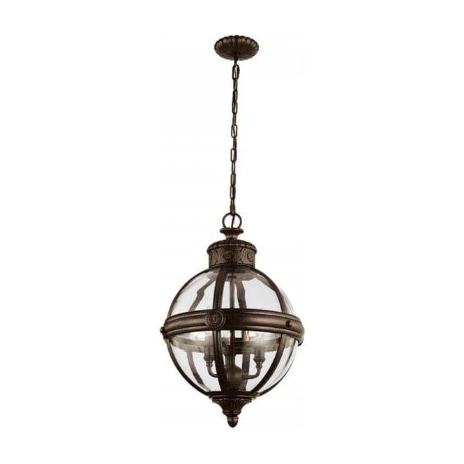 ADAMS Victorian Globe Pendant Light   Bronze