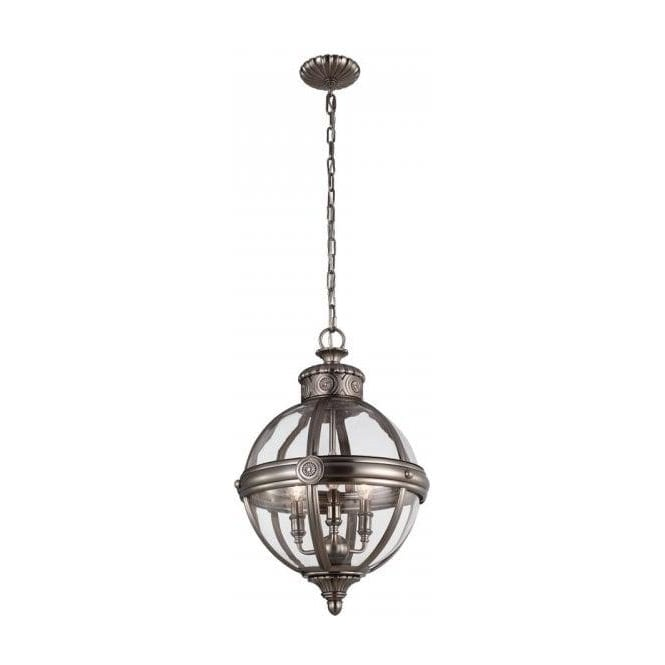 Traditonal victorian style hanging globe ceiling pendant light adams victorian style globe pendant light antique nickel mozeypictures Choice Image