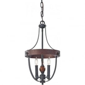 ALSTON antique forged iron ceiling pendant light