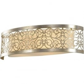ARABESQUE silver leaf long length wall light