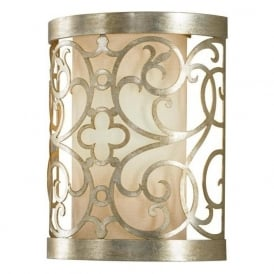 ARABESQUE silver leaf wall washer wall light