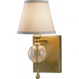 ARGENTO traditional wall sconce with ivory linen shade