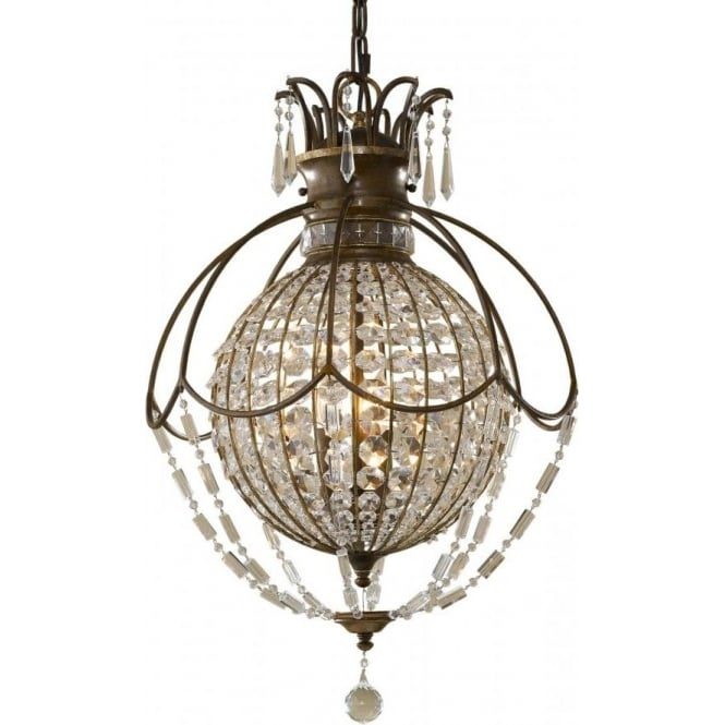 Bellini large globe shaped chandelier antique bronze crystal dressed bellini circular globe chandelier bronze with antique crystal mozeypictures