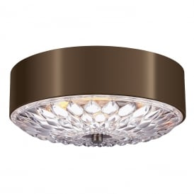 BOTANIC aged brass flush fitting ceiling light for low ceilings - medium