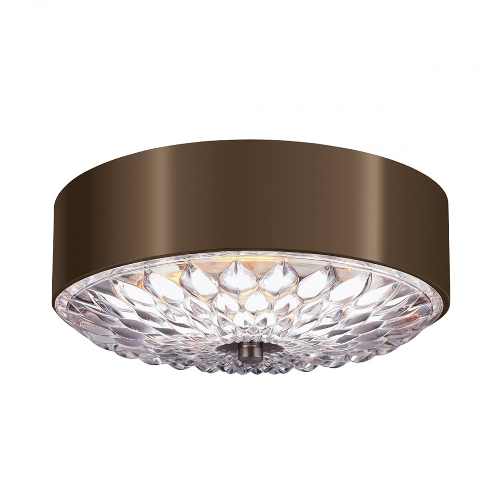Botanic Aged Brass Flush Fitting Ceiling Light For Low Ceilings Small