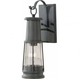 CHELSEA HARBOR grey garden wall lantern