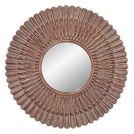 CHEYENNE circular decorataive wall mirror with gold frame