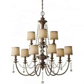 CLARISSA large 9 light traditional chandelier