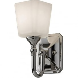 CONCORD traditional bathroom wall light in chrome and opal glass