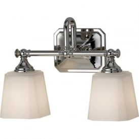 CONCORD traditional double bathroom wall light, IP44