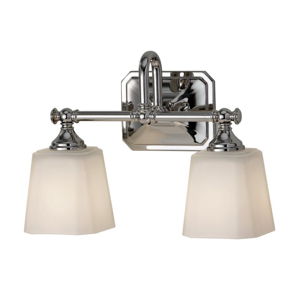 Colonial Style Double Bathroom Wall Light For Lighting Over Mirrors