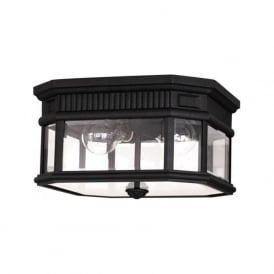 COTSWOLD LANE IP44 flush fitting traditional porch ceiling light - black