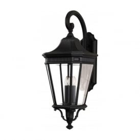 COTSWOLD LANE IP44 traditional outdoor wall lantern - large black