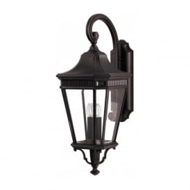 COTSWOLD LANE IP44 traditional outdoor wall lantern - large bronze