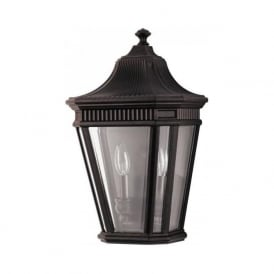 COTSWOLD LANE traditional flush fitting garden wall lantern - bronze