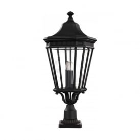 COTSWOLD LANE traditional garden gate post lantern - large black
