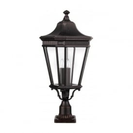 COTSWOLD LANE traditional garden gate post lantern - large bronze