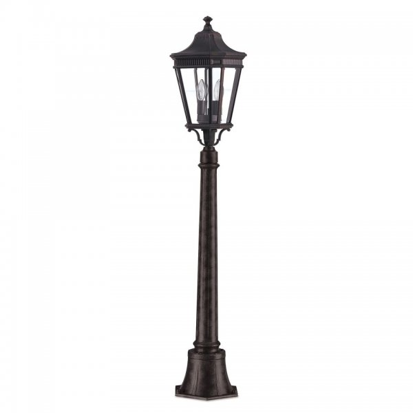Simplistic Victorian Entrance Pillar Light: Small Outdoor Lamp Post Light Or Pillar Lantern In