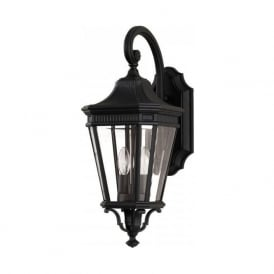 COTSWOLD LANE traditional outdoor garden wall lantern- medium black