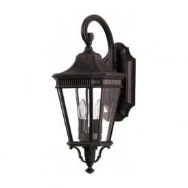 COTSWOLD LANE traditional outdoor garden wall lantern - medium bronze