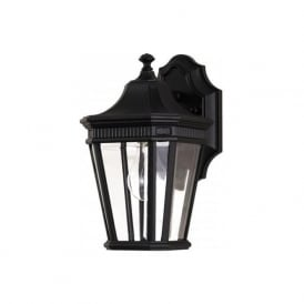 COTSWOLD LANE traditional outdoor garden wall lantern - small black