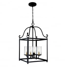 DECLARATION traditional forged wrought iron hanging ceiling lantern