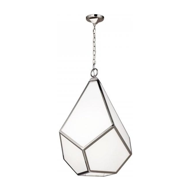 Modern Geometric Hanging Ceiling Pendant Light In Opal