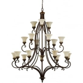 DRAWING ROOM large 3 tier tradtional bronze chandelier with 18 lights