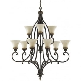 DRAWING ROOM large 9 light multi tier traditional chandelier