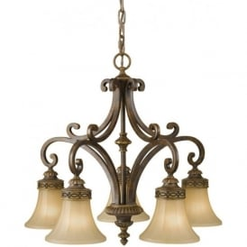 DRAWING ROOM traditional 5 light Edwardian chandelier