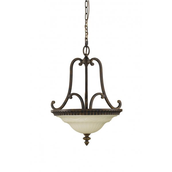 Dual Mount Uplighter Ceiling Pendant Light In Classic Edwardian Style