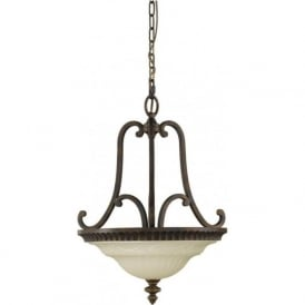 DRAWING ROOM traditional dual mount uplighter ceiling pendant light