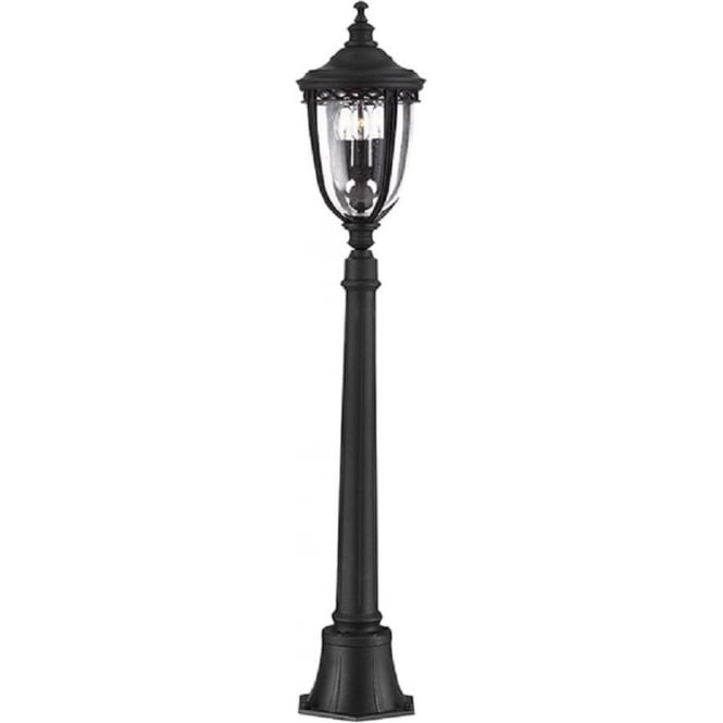 Half size garden lamp post light in tradtional victorian styling ip44 english bridle black garden lamp post or pillar light mozeypictures Image collections