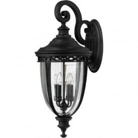 ENGLISH BRIDLE traditional black exterior wall light - xlarge