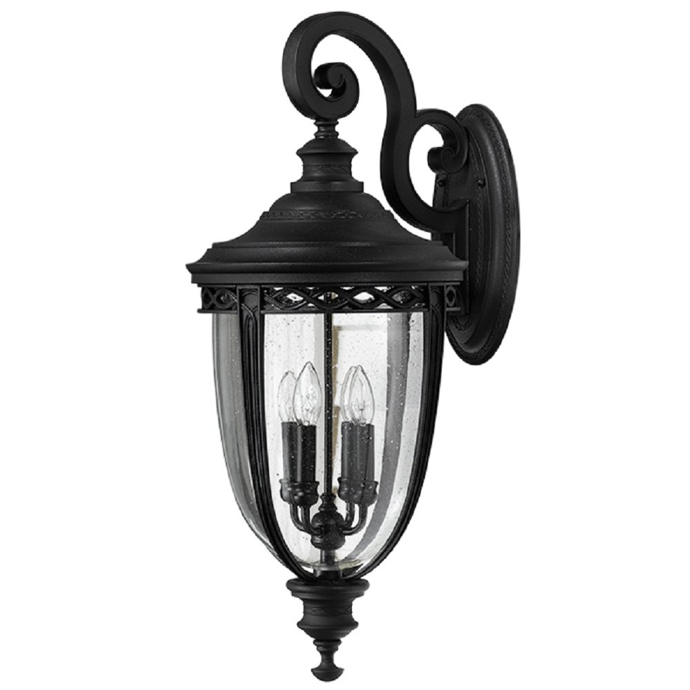 extra large traditional exterior garden wall light black finish. Black Bedroom Furniture Sets. Home Design Ideas