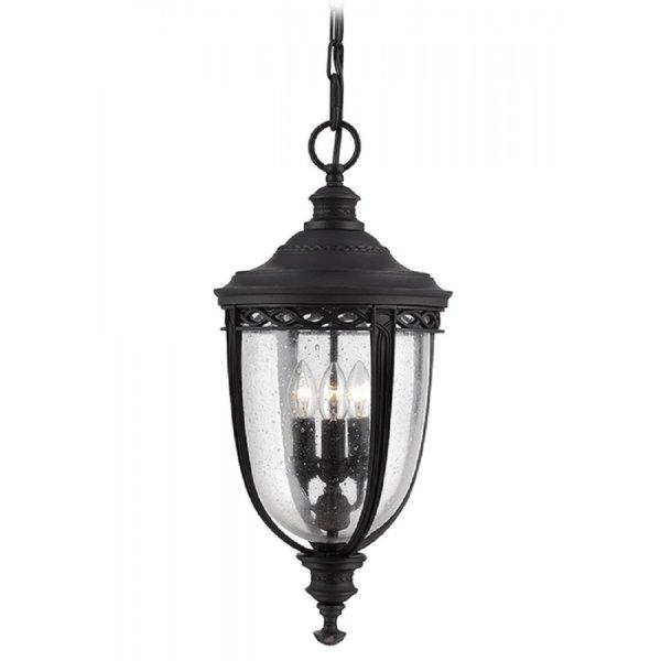 Hanging Black Porch Or Front Door Light In Traditonal