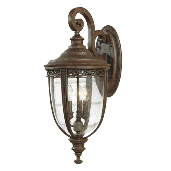 Traditional White Wall Lights : Large Bronze Outdoor Wall Light in Traditional Period Styling, IP44