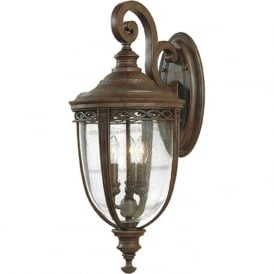 ENGLISH BRIDLE traditional bronze exterior wall light - large