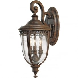 ENGLISH BRIDLE traditional bronze exterior wall light - medium