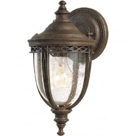 ENGLISH BRIDLE traditional bronze exterior wall light - small