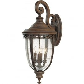 ENGLISH BRIDLE traditional bronze exterior wall light - xlarge