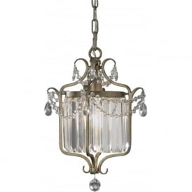 GIANNA small Edwardian dual mount chandelier