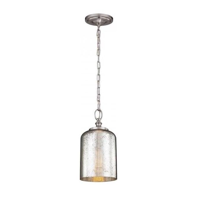 Small ceiling pendant on chain silver leaf mercury effect glass shade hounslow mini chain pendant ceiling light with silver leaf glass dome shade aloadofball Choice Image