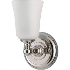 HUGUENOT LAKE traditional chrome bathroom wall light, IP44