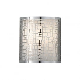 JOPLIN modern curved chrome wall light