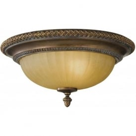 KELHAM HALL traditional bronze low ceiling light fitting